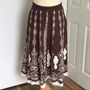 Printed Sequined circle skirt